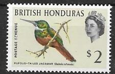 BRITISH HONDURAS SG212 1962 $2  BIRD  MNH