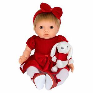 Christmas Tiny Treasures Holly Doll Limited Edition 44cm Red Velvet Dress Xmas