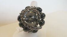 Wildlife by Heidi Klum Cabochon & Crystal Duchess Ring BLACK  SIZE 9 J265883