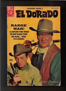 """1967 JOHN WAYNE """" EL DORADO  """" DELL COMIC BOOK ORIGINAL & COMPLETE"""