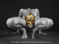 3832 Fine Art Nude Woman Mask Naked Girl Thighs Maher