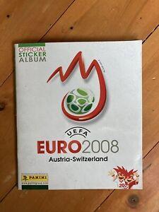 Euro 2008 Panini Sticker Album:- Australia - Switzerland. 100% Complete. Super.