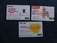 3 RARE IRELAND ONE4ALL GIFT CARDS .USED. NO VALUE. COLLECTORS ITEM.  LOT 15