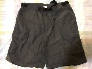 North Face Cargo Shorts Large Grey Walking Outdoors