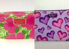 2 Cosmetic Bags Lilly Pulitzer for Estee Lauder & Vera Wang Make Up Bag Zipper