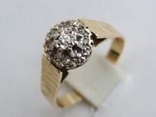 18 Carat Anniversary Cluster Yellow Gold Fine Diamond Rings