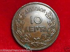 1882  Greece  10 Lepta  King George COIN