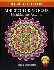 Adult Colouring Book Mandalas and Patterns Relaxing Color Therapy Stress Relief