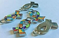 Autism Awareness Small Ribbon Charm (Pack of 5)