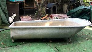 vintage old galvanized bath tin metal bath tub - Water Tight