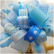 Grab a Bag Plain/Printed Baby Boy Ribbon Bundle 10 X 1 Mtr Lengths Trimmings