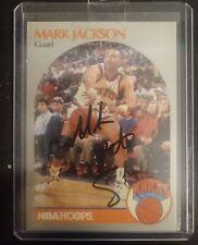 Mark Jackson Auto Signed 1990-91 NBA Hoops Menendez Brothers Card #205