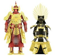 Set of 2 Fascinations Metal Earth Chinese (Ming) & Japanese Armor 3D Model Kits