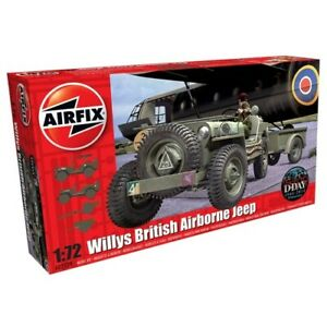 Airfix A02339 Willys MB Jeep 1:72 Scale Model with Trailer  Airfix