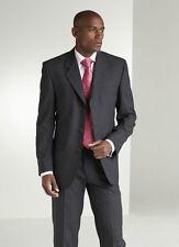 "MENS CHARCOAL GREY PINSTRIPE Suit JACKET Office Busines, Simon Jersey, 44"" chest"