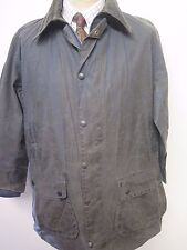 "Barbour A205 Border Waxed jacket - L 42"" Euro 54 in Blue"