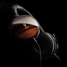 MEZE 73 Classics sur oreille casque / écouteurs faites de bois d'ébène brillant