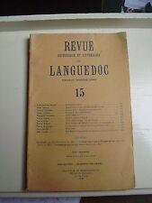 Revue historique et littéraire du Languedoc Tome 15  10 1947