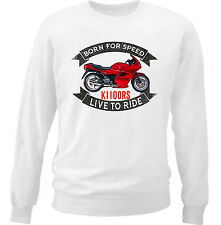 BMW K1100RS - NEW COTTON WHITE SWEATSHIRT ALL SIZES IN STOCK