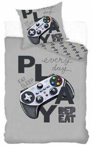Gamer Play Everyday Bedding Duvet Set Reversible Single bed cover