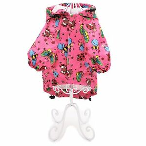 Dog Rain Coat Hooded WATERPROOF RainCoat Jacket Rainwear For SMALL Female Pet