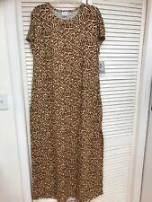 LuLaRoe Maria XLarge Maxi Dress Leopard Cheetah Animal Unicorn! Giraffe Brown XL