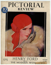 Rare Original VTG 1929 Pictorial Review McClelland Barclay Cover Only Art Print