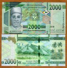 Guinea, 2000 francs, 2018 (2019), P-New, UNC > New Design, New Denomination