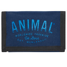 ANIMAL MENS WALLET.NEW SIDETRACK BLUE COIN CREDIT CARD MONEY CASH PURSE 8S 14 F9