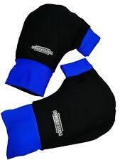 Ruderhandschuhe blau/schwarz mit Aufdruck, Rudern, Rowing, Poggies