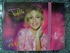 Disney Violetta diario quaderno NOTE spirale con elastico Design Idea regalo
