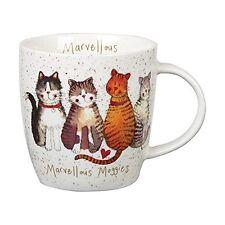 Alex Clark Fine China Squash Mug - Cat -Marvellous Moggies - Full Range in Stock