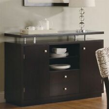 Dining Room Dark Wood Tone Modern Sideboards Buffets