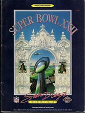 Super Bowl 22 1988 Official Program REDSKINS VS. BRONCOS WITH VIEWER'S GUIDE