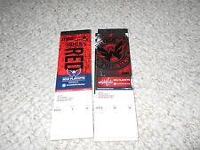 Washington Capitals Unused Playoff Tickets 2011 2012 Memorabilia Style