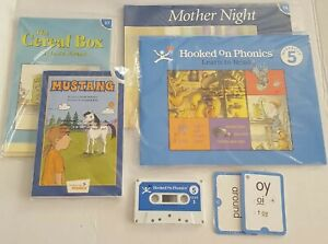 Hooked On Phonics Learn To Read Deluxe Blue Level 5 Complete Audio Cassette Tape