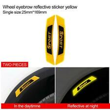 2x Car Door Yellow Reflective Sticker Tape Safety Warning Decals Stickers Decor