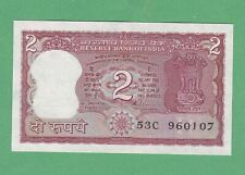 India 2 Rupees Note P-51Ae  UNCIRCULATED W/ STAPPLE HOLES
