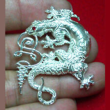Thai Amulet Pendant Magic Lizard Charm JingJok Real Silver A.Jump BE2560