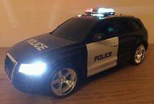 POLICE CAR AUDI Q5 QUATTRO RADIO REMOTE CONTROL CAR SIREN LIGHTS FAST SPEED
