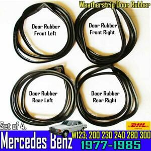 For Mercedes Benz W123 Weatherstrip Door Rubber Set Complete Seal200 230 240 300