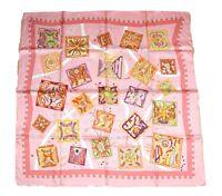 Hermes Scarf La Mecanique Des Idees Silk 90 cm Pink Carre Shawl Stole