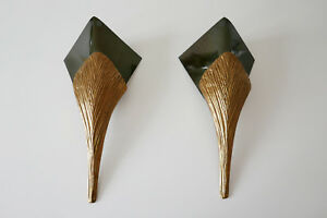 Pair BRONZE NEFERTITI Sconces WALL LAMPS by CHRYSTIANE CHARLES for CHARLES PARIS