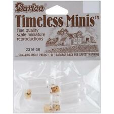 Timeless Miniatures-Spice Bottles w/Cork 4/Pkg 082676341946 #2316-38 Doll House
