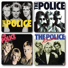 THE POLICE INSPIRED COASTERS - SET OF 4 - HIGH QUALITY - IDEAL GIFT