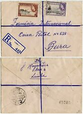 More details for nyasaland to mozambique registered limbe 1/2d + 6d 1953 commercial cover