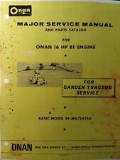 Massey Ferguson MF 1655 Garden Tractor BF MS Onan Engine Service & Parts Manual