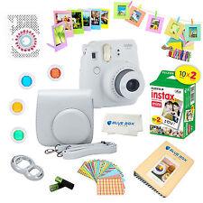 Fujifilm Instax Mini 9 Camera SMOKEY WHITE + 20 Fuji Films + 15 PC Accessory kit