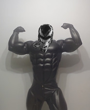 muscle costume, venom suit, batman, fetish, black leather faux, hero cosplay