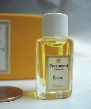 WOMENS FRAGONARD EMILIE PERFUME PARFUM 2 ML VANITY BOTTLE VIOLET ROSE AMBER